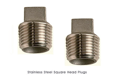 Stainless Steel Square Head Plugs