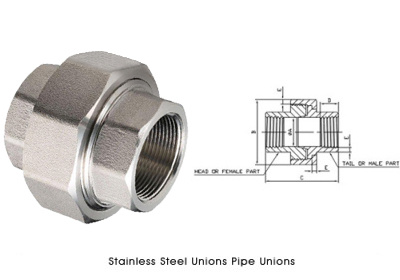 Stainless Steel Unions Pipe Unions